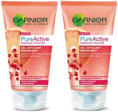 Garnier - Pure Active - Gommage visage - Energie fruitée Gel Exfoliant Energisant - Lot de 2: Amazon.fr: Beauté et Parfum