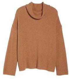 Chunky Thermal Cowl Neck Sweater (Regular & Plus Size) Plus Size Fall Fashion, Autumn Fashion, Plus Size Sweaters, Cowl Neck, Men Sweater, Nordstrom, Turtle Neck, Knitting, Sleeves