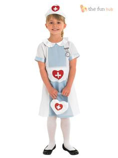 Girls Nurse Doctor Outfit Fancy Dress Up Costume Kids Child  Toddler Age 3-8 yrs