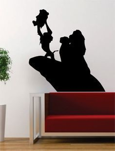 Lion King Simba Rafiki Disney The latest in home decorating. Beautiful wall vinyl decals, that are simple to apply, are a great accent piece for any room, come in an array of colors, and are a cheap a Lion King Room, Lion King Nursery, Lion King Theme, Lion King Party, Lion King Birthday, Lion King Baby Shower, Lion King Simba, Le Roi Lion Disney, Cake Decorating Techniques