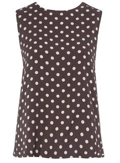 spotted top / dorothy perkins  I love polka dots!