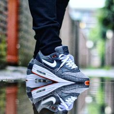 Nike Air Max 1 Premium x NikeiD Orangina 📷 Casual Sneakers, Air Max Sneakers, Sneakers Fashion, Sneakers Nike, Nike Air Max 90s, Air Max 90 Leather, Hypebeast, Streetwear, Baskets
