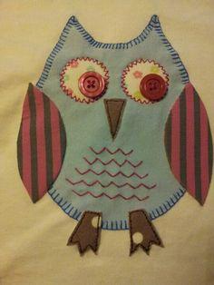 Applique owl