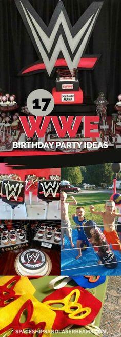 17 Wild WWE Birthday Party Ideas via @spaceshipslb