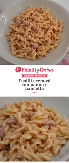 Fusilli cremosi con panna e pancetta – Rezepte Fusilli, Easy Cooking, Cooking Recipes, Vegetarian Salad Recipes, Pasta Sauce Recipes, Food & Wine Magazine, Italy Food, Yummy Food, Tasty
