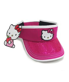 Take a look at the Magenta Hello Kitty Visor on #zulily today!