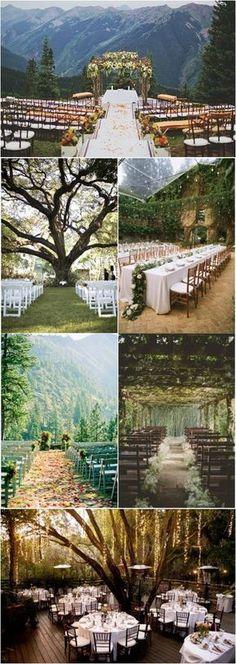 20+ Genius Outdoor Wedding Ideas | Out door wedding venues