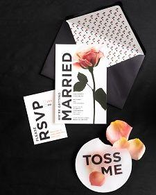 Printable rose wedding stationery