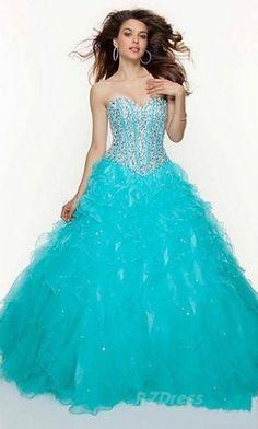 Turquesa mágico para tu gran noche. #ideasparaquinces #quinceaneras #dress #dresses #quincedress #vestidos #party