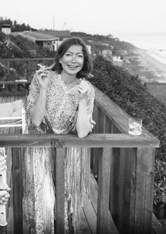 Joan Didion. Malibu, 1976.