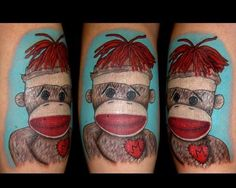 sock monkey tattoo. I can't believe I found one this.