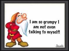 grumpy dwarf | am so grumpy I'm not even talking to myself | Curiosities By ...