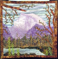 "Yosemite, 12 x12"", by Kari Bauer.  2012 River City Quilt show. Photo by Quilt Inspiration."