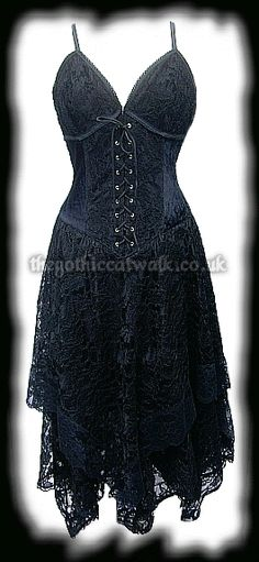 I found 'Black Lace & Velvet Gothic Corset Dress | Dresses | Long' on Wish, check it out!