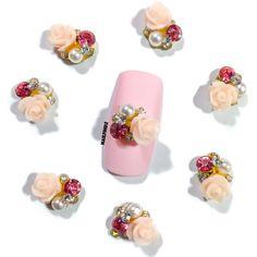 """""""Pink Parade"""" Nail Charm (4 pcs)"""