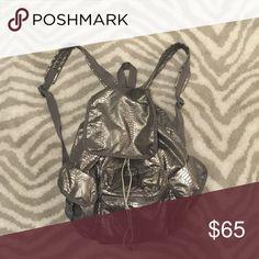 LeSportsac backpack Silver snake skin LeSportsac backpack LeSportsac Bags Backpacks Silver Backpacks, Snake Skin, Drawstring Backpack, Bags, Silver Loafers, Handbags, Bag, Totes