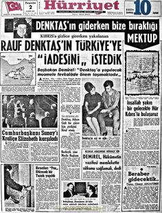 Hürriyet gazetesi 2 kasım 1967 Newspaper Headlines, Old Newspaper, Newspaper Archives, Important Facts, Leadership, Nostalgia, Humor, History, Historia