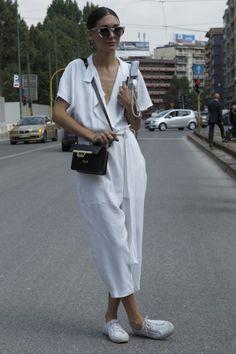 Gallery: Women's Street Style at Milan Fashion Week - Spring 2015 menswear - Photo by Anthea Simms