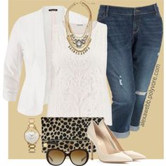 df9eeb971ab Plus Size Fashion - Classy Boyfriends by alexawebb on Polyvore  plussize   plussizefashion  outfit