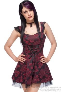Cute dress with corset lacing detail.