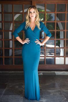 Vestido azul - COLEÇÃO INVERNO 2017 - ROMARIA