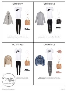 The Athleisure Capsule Wardrobe: Spring 2019 Collection - Classy Yet Trendy, Athleisure Outfits Summer,{ResimSayisi} Classy Yet Trendy, Classy Casual, Summer Minimalist, Minimalist Fashion, New Outfits, Cool Outfits, Summer Outfits, Capsule Wardrobe, Summer Wardrobe