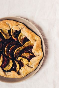 Beet Thyme Galette with Balsamic Syrup + Whipped Goat Cheese