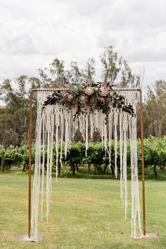 Macrame wedding backdrop arbour arch ceremony backdrop boho wedding super wedding budget 5000 tips ideas Wedding Ceremony Ideas, Wedding Reception Backdrop, Arch Wedding, Wedding Dresses, Outdoor Ceremony, Outdoor Wedding Arches, Wedding Shoes, Wedding Backdrops, Reception Table