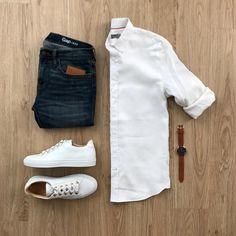 Men Casual Shirt Outfit 🖤 Very Attractive Casual Outfit Grid, Trendy Mens Fashion, Stylish Mens Outfits, Look Fashion, Casual Outfits, Fashion Outfits, Outfit Grid, Casual Shirts For Men, Men Casual, Casual Styles