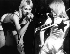 Cheri Currie of The Runaways (all-girl teenage rock band that recorded and performed in the late 1970's)