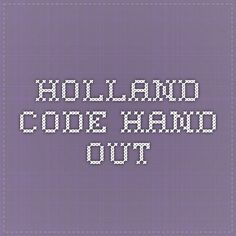 holland code hand out