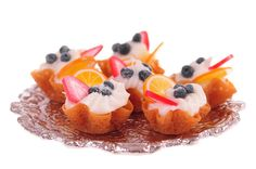 fruit and cream brandy snap baskets dollhouse miniature food on Etsy, Sold