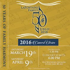 Getting excited each day... to get your ticket visit http://lafontainemusic.com/product-category/event-tickets/ #LaFontaineMusic #LaFontaineJubilee