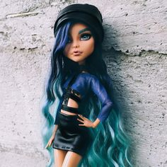 Hattie Underworld daughter of Hades Monster High Art, Monster High Characters, Custom Monster High Dolls, Monster High Repaint, Custom Dolls, Bratz Doll, Ooak Dolls, Barbie Dolls, Art Dolls