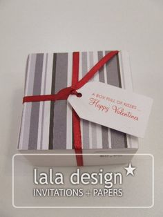 Stripe with ribbon lolly box