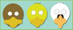 The Ugly Duckling Role-Play Masks