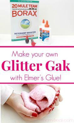 Make Your Own Glitter Gak Using Elmers Glue
