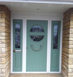Chartwell composite door with matching side panels Goldglaze Ltd, Barnsley