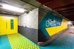 Casselden Basement Cyclist Facilities Way-finding design - Another Matt Ryan Portfolio - The Loop