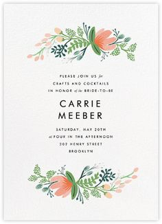 Rifle Paper Co. invitations - Paperless Post