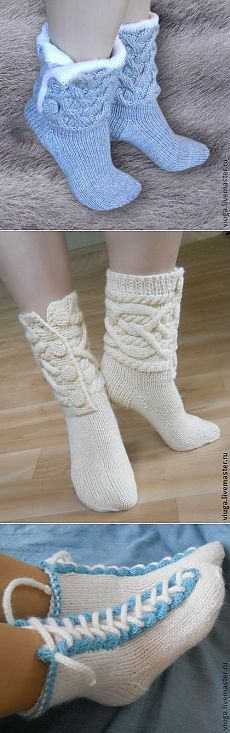 Idle time how sock? Crochet Boot Socks, Knitted Slippers, Slipper Socks, Knitting Socks, Baby Knitting, Knit Crochet, Hunter Boots Outfit, Fashionable Snow Boots, Crochet Baby Shoes