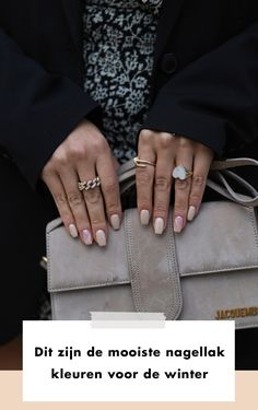 Bag | suede | rings | nail polish | nails | art | nude | rings | gold | Fashionchick |