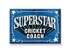 "DecoWords Fridge Gift MAGNET CRICKET COACH Sports Team Teacher  2""x3"" New USA #DecorativeGreetingsInc #GIFTMAGNET"