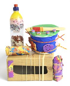 "Its time to make some music with this ""Hand-Made Band"" activity!"