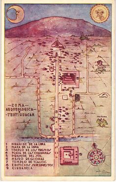 Illustrated map of Teotihuacan