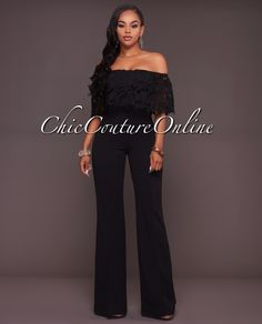 Chic Couture Online - Donovan Black Lace Top Strapless Jumpsuit, $65.00 (http://www.chiccoutureonline.com/donovan-black-lace-top-strapless-jumpsuit/)
