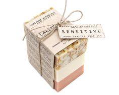 Organic Sensitive Skin Soaps. Handmade Vegan Soap Set.100 % Natural Soap Gift Set
