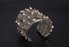 Adjustable Handmade Cuff Wire Bracelets  Hand by AmphaiJewelry