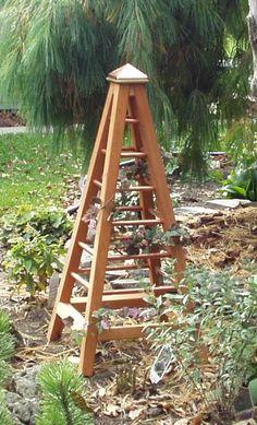 Simple garden obelisk