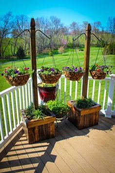 Outdoor Hanging Plant Stand | For the Home | Pinterest ...